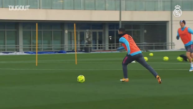 Eden Hazard's skills and shots during training