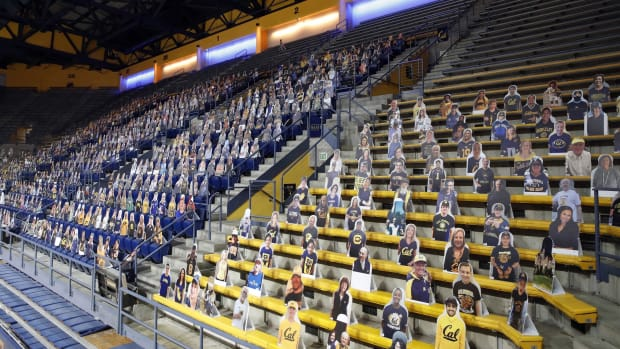 Haas Pavilion and the only fans allowed this season