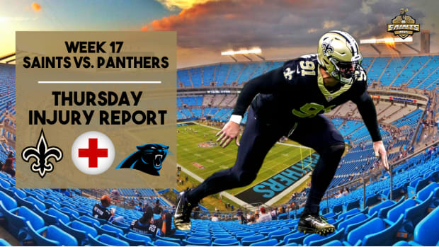 (COPY) Saints Injury Report Week 16