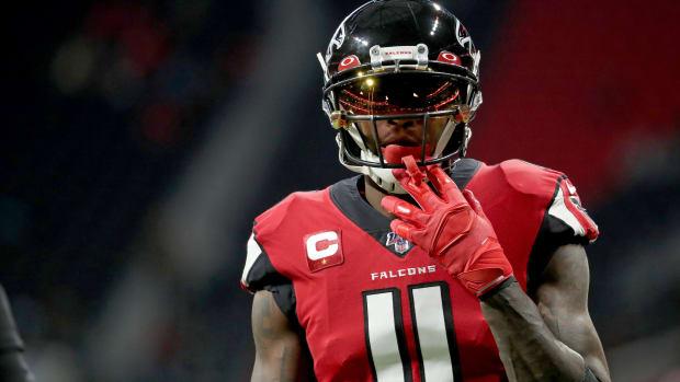 Falcons WR Julio Jones pregame