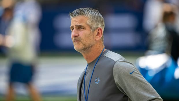 Indianapolis Colts head coach Frank Reich is finishing his third season at the helm.