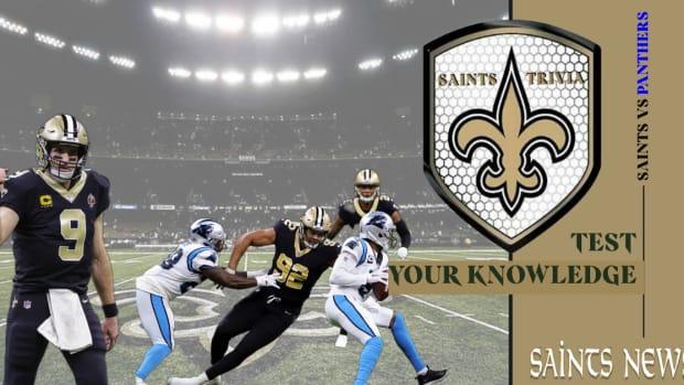 (COPY) Saints Trivia - Test Your Knowledge Saints vs  Panthers