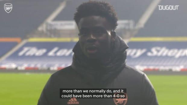 Bukayo Saka: 'Thats the football we love to play'