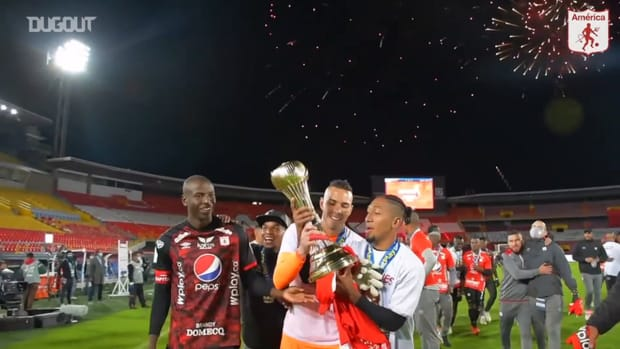 América de Cali's celebrations after becoming Colombian champions
