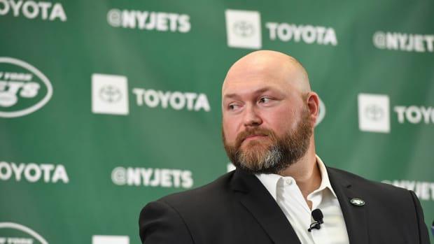 Jets GM Joe Douglas at press conference