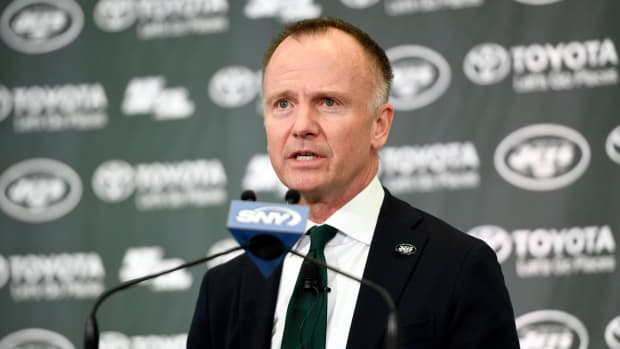 Jets CEO Christopher Johnson at press conference