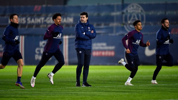 Pochettino-PSG-Training