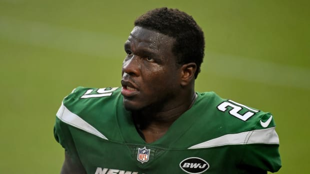 Frank Gore with Jets