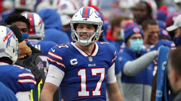 Bills quarterback Josh Allen will face the Colts in the NFL Wild Card Round.