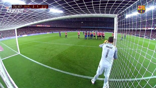 Leo Messi's free-kick helps Barça over Athletic Bilbao in Copa del Rey