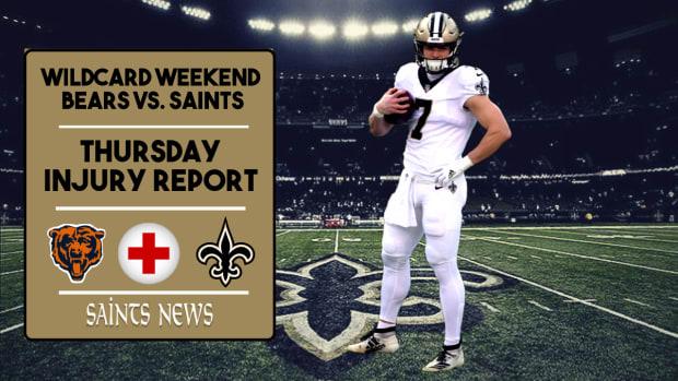 Saints Injury Report Wildcard