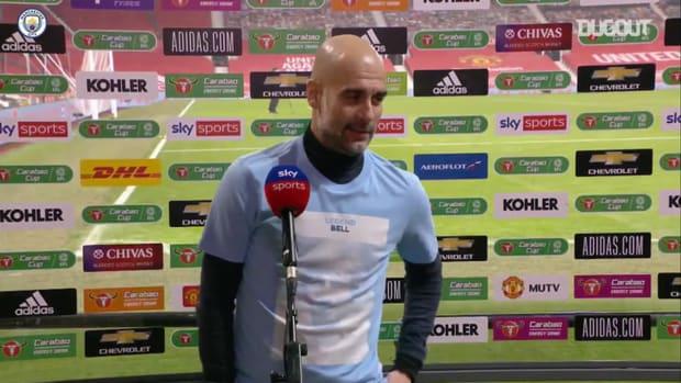Guardiola hails 'impressive' Carabao Cup achievement for Man City