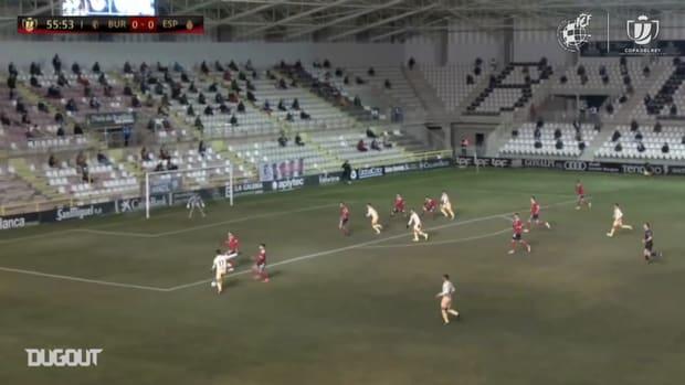 Wu Lei's goal vs Burgos in the Copa del Rey