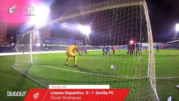 Óscar Rodríguez's great free-kick goal vs Linares