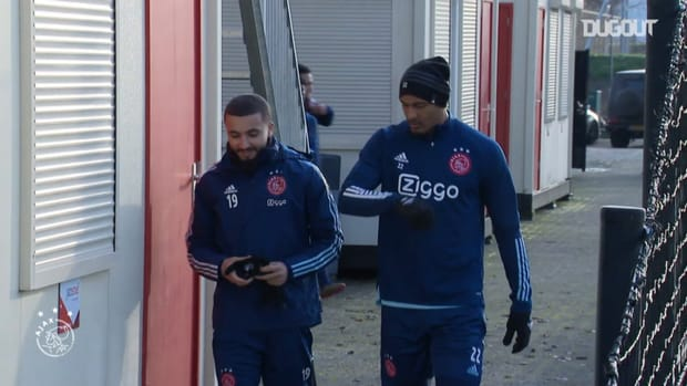 Haller's first training session as an Ajax player