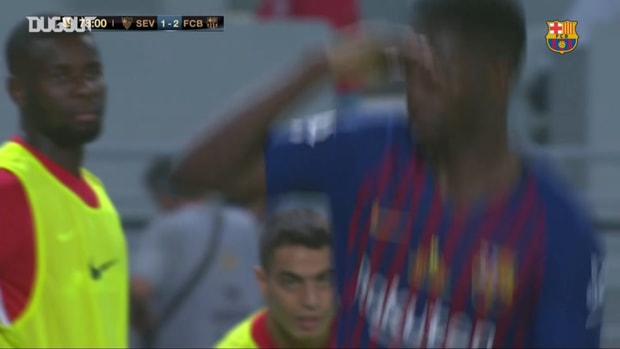 Ousmane Dembélé's thunderbolt soals Spanish Super Cup for Barcelona