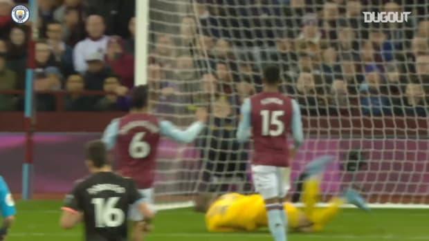 Agüero breaks Premier League hat-trick record with treble at Aston Villa