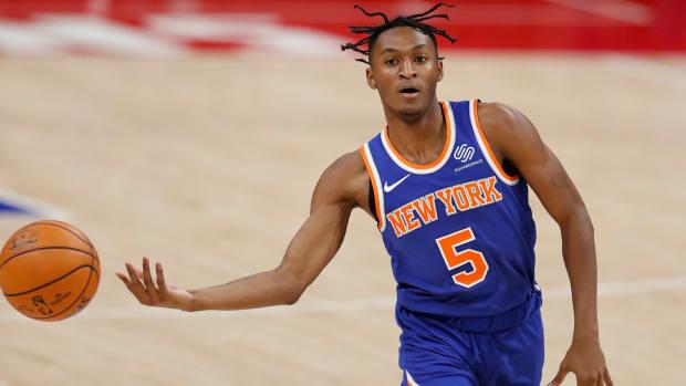 New York Knicks guard Immanuel Quickley