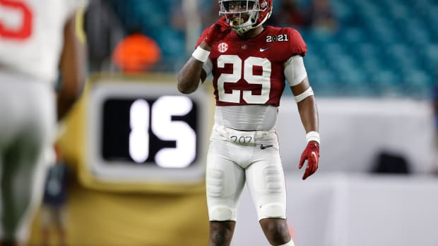 January 11, 2021, Alabama safety DeMarcco Hellams in CFP National Championship in Miami, FL.
