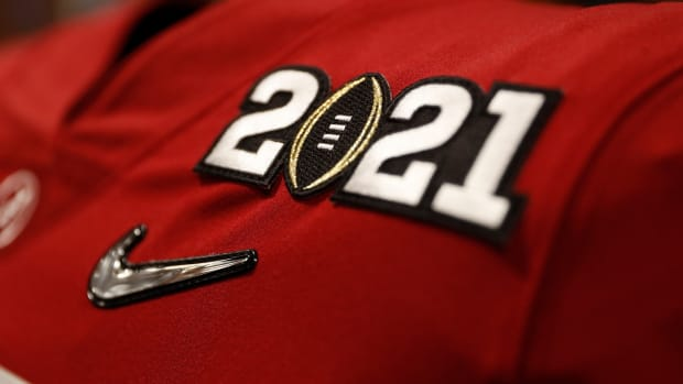 January 11, 2021, Alabama football locker room before CFP National Championship in Miami, FL.