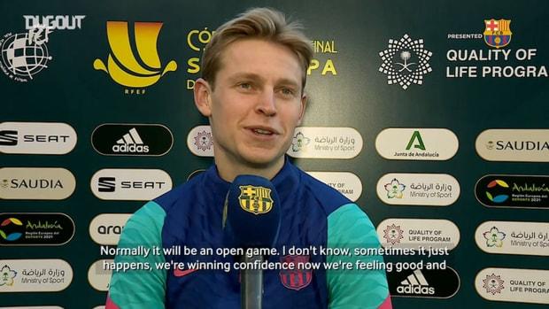 Frenkie de Jong: 'We are winning confidence'