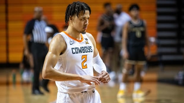 Cade Cunningham and Oklahoma State are hosting No. 6 Kansas on Jan. 12.