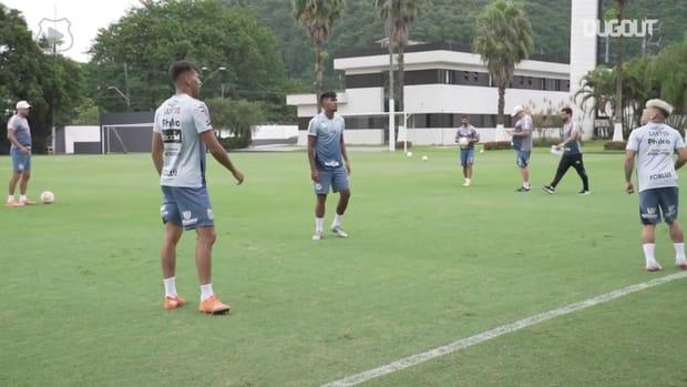 Santos last training session before Boca Juniors clash