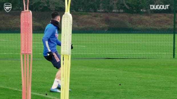 Martinelli in training as Arsenal prepare for Crystal Palace