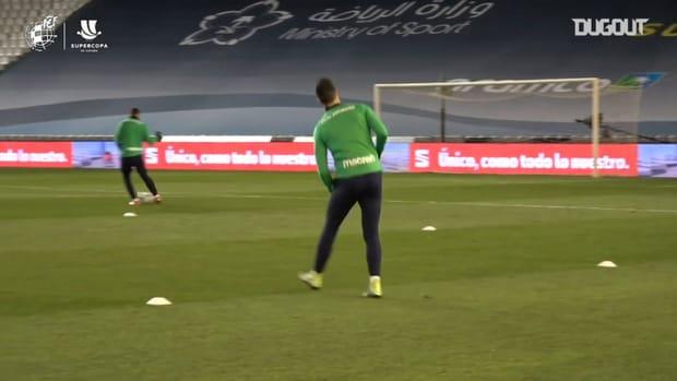 Real Sociedad prepare for Supercopa de España semifinal vs FC Barcelona