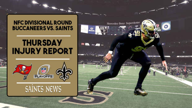 Saints Injury Report Wildcard