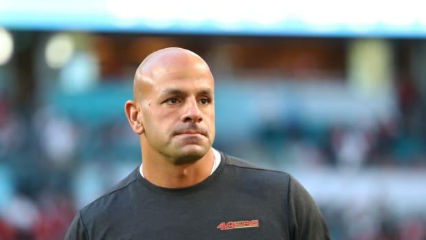 Robert Saleh coaching on sideline