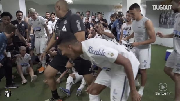 Santos' celebrations after beat Boca Juniors and reach Libertadores final