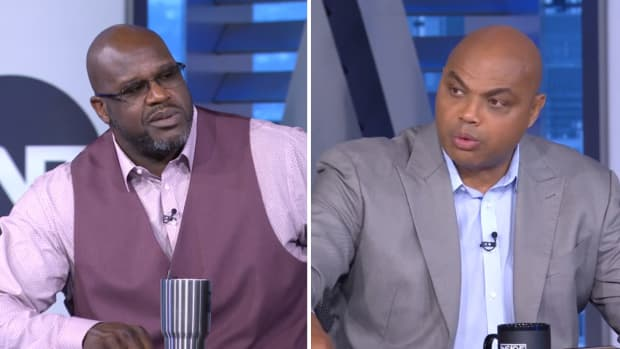 Shaquille O'Neal and Charles Barkley on TNT's Inside the NBA