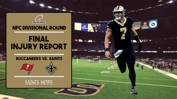 Saints Injury Report - 2021 NFC Divisional Round