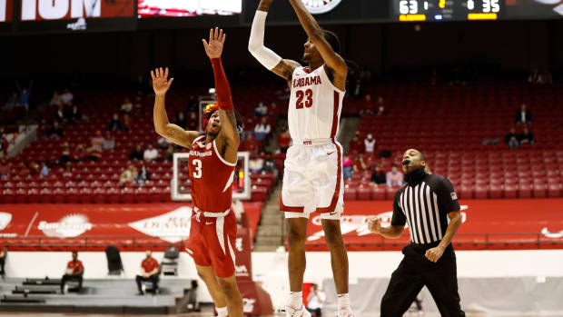 January 16, 2021, Alabama basketball guard John Petty Jr. against Arkansas in Tuscaloosa, AL.