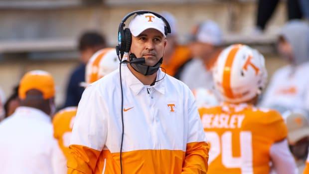 Tennessee football coach Jeremy Pruitt