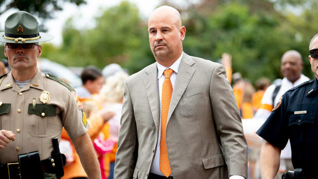 Jeremy Pruitt during Vol walk