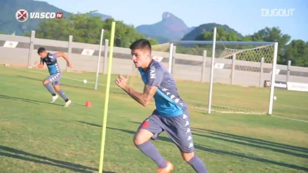 Vasco's last training session before Red Bull Bragantino clash