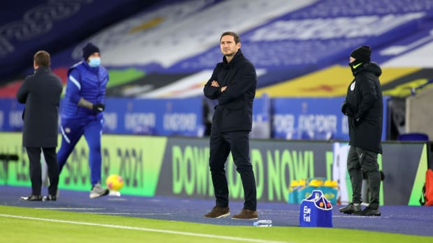 Chelsea manager Frank Lampard is in trouble