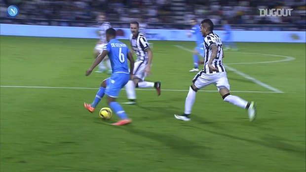 Napoli win the 2014 Supercoppa Italiana against Juventus