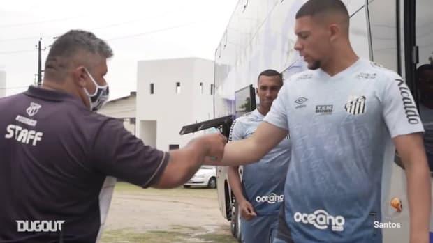 Santos' last training session before Fortaleza clash