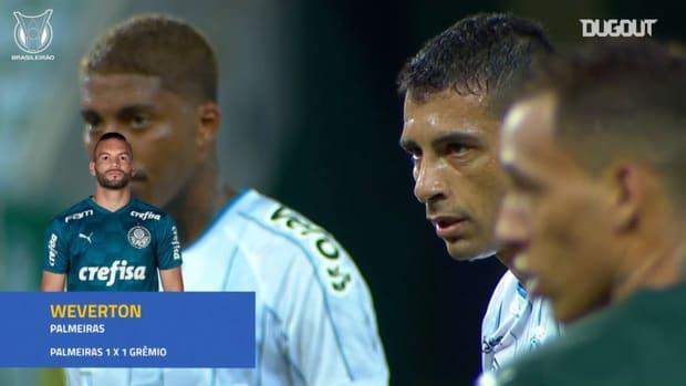 Brazil international Weverton's incredible free-kick save