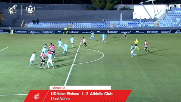 Unai Núñez's injury-time winner for Athletic to knock out Ibiza