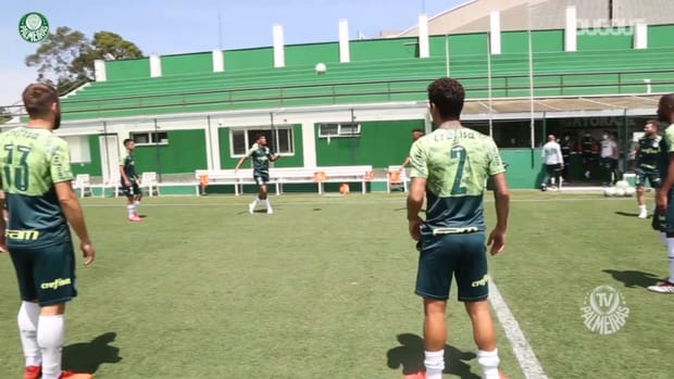 Palmeiras' last training session before Ceará clash