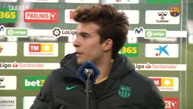 Riqui Puig: 'My last header was in U-16'