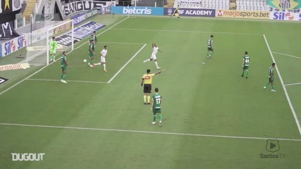 Check Santos goals in the loss to Goiás in the 2020 Brasileirão Serie A