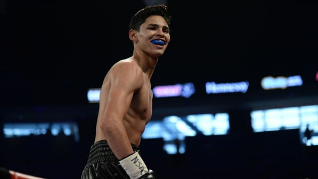 Ryan Garcia after defeating Tyrone Luckey in 2017