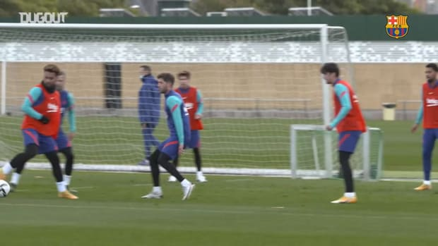 Barcelona's recovery session ahead of the game against Rayo Vallecano