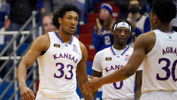 David McCormack and No. 15 Kansas will face TCU in Big 12 play.