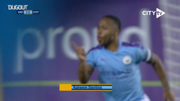 Angelino's pinpoint assist for Sterling